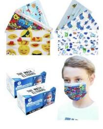 Çocuk Maskesi 3 Katlı Telli Desenli