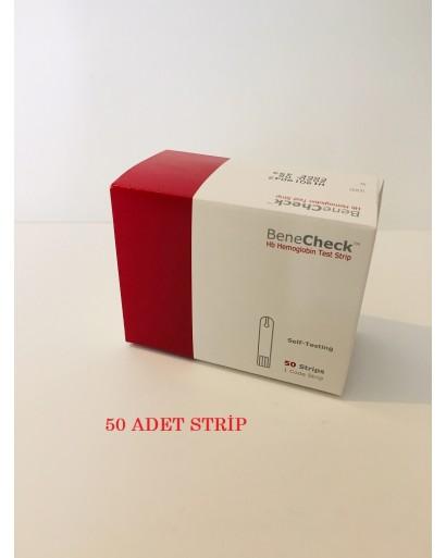 benecheck hemoglobin stribi 50 lik