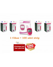 Easylife Hemoglobin cihazı ve 4 kutu strip easylife hemoglobin seti
