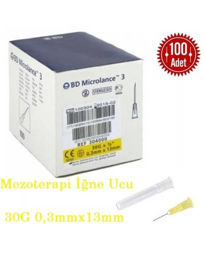 Mezoterapi İğne Ucu Sarı 30G 13 mm