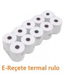 E - Reçete termal rulo kağıdı 80 x 30 10 lu paket
