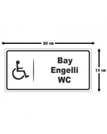 Bay Engelli WC tabelası
