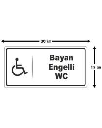 Engelli WC Tabelası Bayan