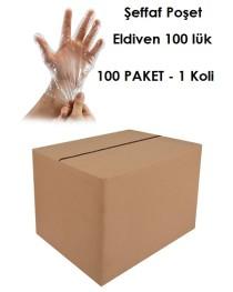 Şeffaf Poşet Eldiven 100 Paket 1 KOLİ